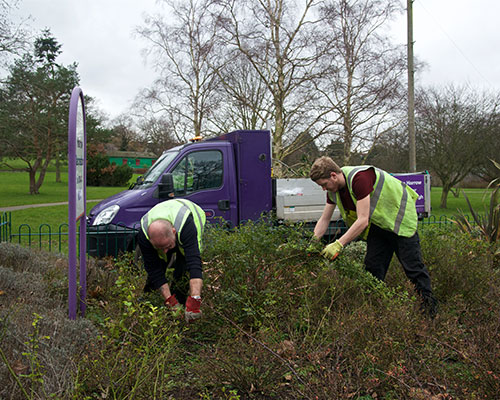 Council Workers Clearing Weeds